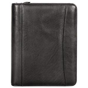 Franklin Covey - Nappa Leather Ring Bound Organizer w/Zipper, 8 x 10 -  Black