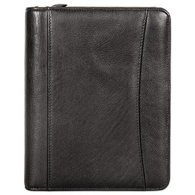 FranklinCovey - Nappa Leather Ring Bound Organizer w/Zipper, 8 x 10 -  Black