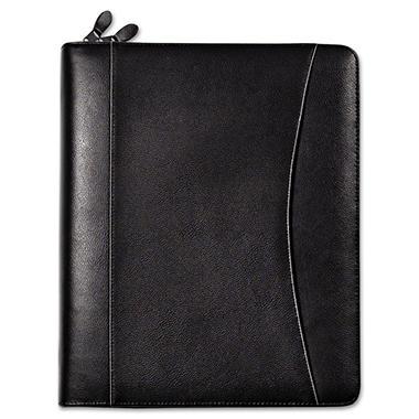 FranklinCovey - Sedona Leather Organizer Deluxe Starter Set, 5-1/2 x 8-1/2 - Black