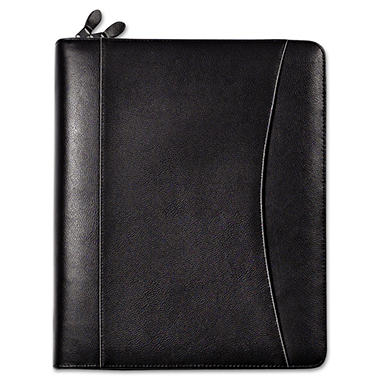 FranklinCovey - Sedona Leather Organizer Deluxe Starter Set, 5-1/2 x 8-1/2 - Black