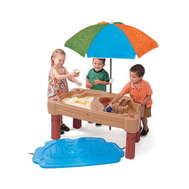 adjustable sand water table with umbrella sam 39 s club. Black Bedroom Furniture Sets. Home Design Ideas