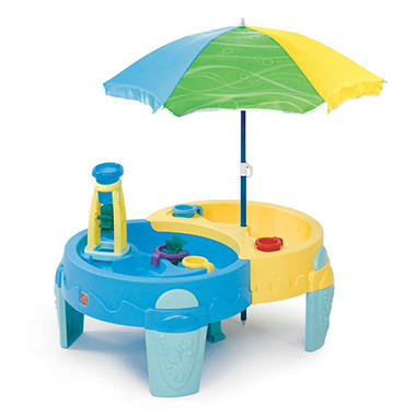 SAND AND WATER OASIS WITH UMBRELLA