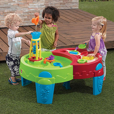 Shady Oasis Sand & Water Table with Umbrella