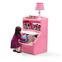 Lift & Hide Bookcase Storage Chest - Pink