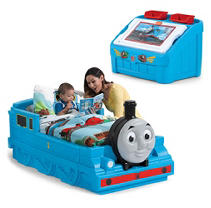 Thomas the Tank Engine Bed 2 PC Bundle (Bed, 2-in-1 Toy Box & Art Lid)