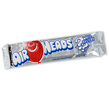 Airheads White Mystery Candy - 0.55 oz. Bar - 36 ct.
