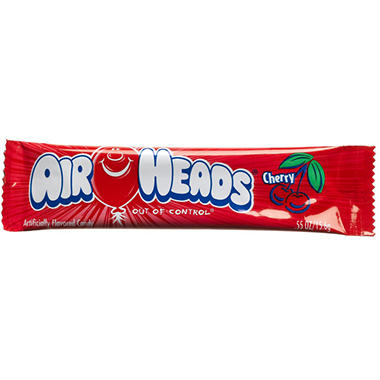 Airheads Cherry Flavored Candy - .55 oz. Bar - 36 ct.