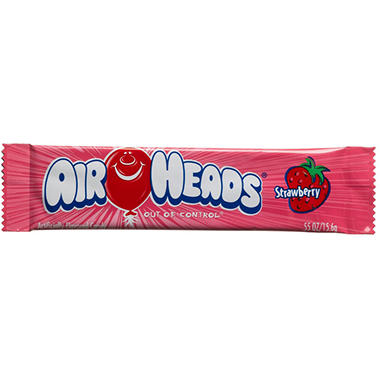 Airheads Strawberry Flavored Candy - 0.55 oz. Bar - 36 ct.