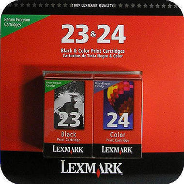 Lexmark 23/24 - 2 Pack Ink Combo-Black & Color