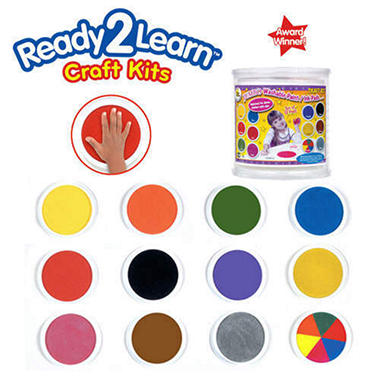 Ready2Learn 12 Jumbo Washable Paint/Ink Pad Set