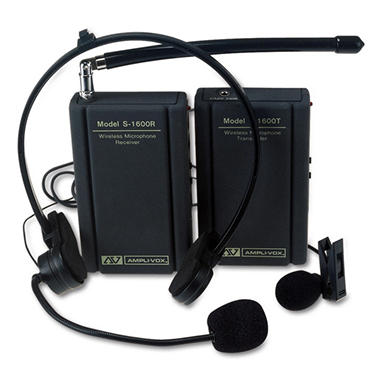 AmpliVox� Wireless Lapel Microphone Kit