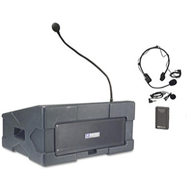 Amplivox Wireless Podium PA with Lapel/Headset Mic