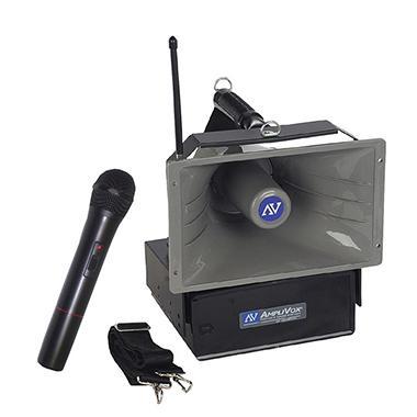 Amplivox Half-Mile Hailer 50W Wireless PA with Handheld Mic