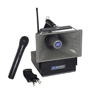Amplivox Half-Mile Hailer 50W Wireless PA with Handheld Mic
