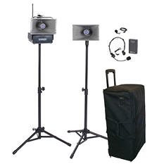 Amplivox Wireless Hailer PA Kit with Lapel/Headset Mic