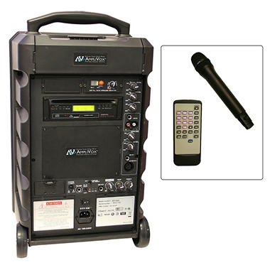 Amplivox Titan100W Portable PA with Handheld Mic