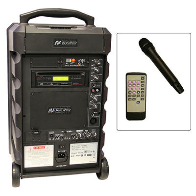 Amplivox Titan100W Portable PA with Handheld Mic