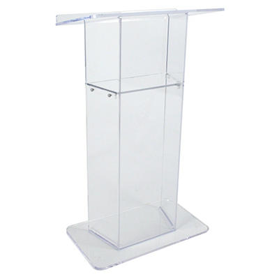Amplivox Clear Acrylic Lectern With Shelf