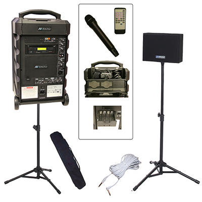 Amplivox Titan 100W Portable PA Bundle with Handheld Mic