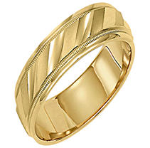 Click here for 14K Yellow Gold 5.5mm Comfort-fit Wedding Band prices