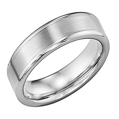Tungsten Carbide 6mm Comfort Fit Wedding Band