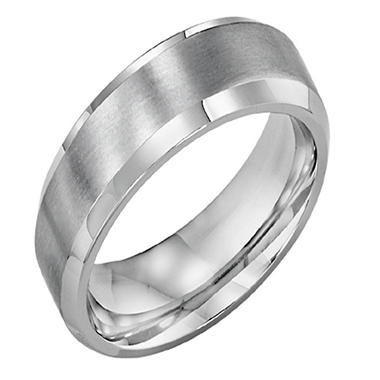 Stainless Steel 7mm Comfort Fit Wedding Band