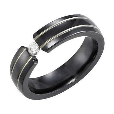 .14 ct. t.w. Blk.Titanium & Diamond Ring (H-I, I1)