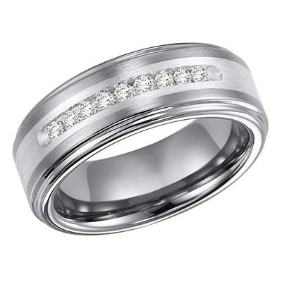 .23 ct. t.w. Tungsten & Silver Band (H-I,I1)