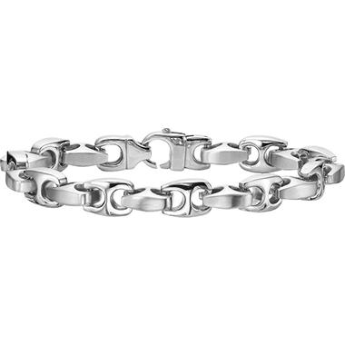 "8.5"" Stainless Steel Men's 9.5mm Bike Link Bracelet"