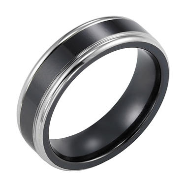 Black Titanium Comfort-Fit Band - 6.5mm
