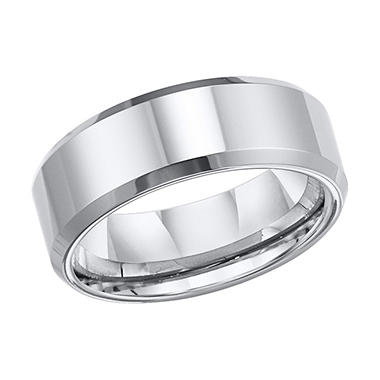 Tungsten Carbide Satin Finish Comfort-Fit Band - 8mm