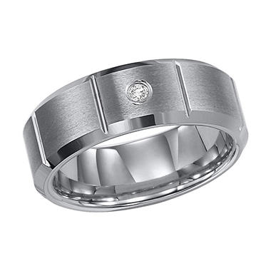 .04 ct. t.w. Diamond Tungsten Carbide Band - 8mm