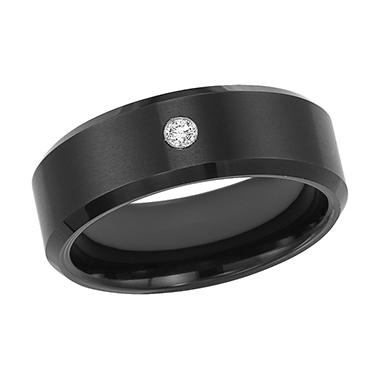.04 ct. t.w. Diamond Tungsten Carbide 7mm Band