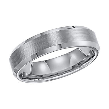 Tungsten Carbide Beveled Comfort-Fit Band - 6mm