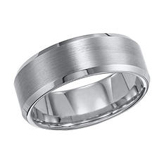 Tungsten Carbide Beveled Comfort-Fit Band - 8mm