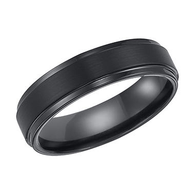 Black Tungsten Carbide 6mm Comfort-Fit Band