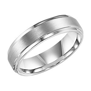 White Tungsten Carbide 6mm Comfort-Fit Band