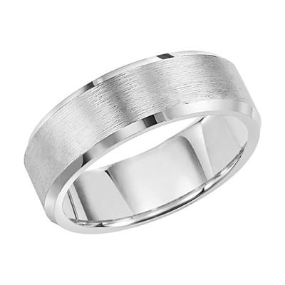 White Tungsten Carbide 8mm Comfort-Fit Band