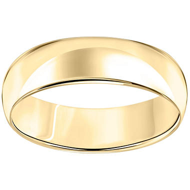 6mm Comfort-Fit Wedding Band in 14K Yellow Gold
