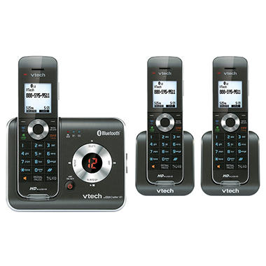 VTech DS6421-3 Three Handset Cordless Phone System with Connect to Cell Answering System