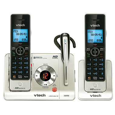 VTech 2 Handset Expandable Cordless Phone w/ Headset