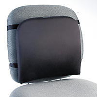Kensington Memory Foam Backrest, 13-1/4w x 1-3/4d x 14-1/4h, Black