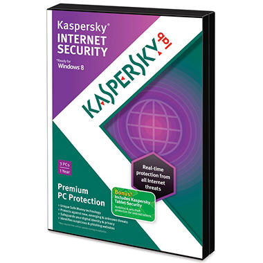 Kaspersky Internet Security 2013 3U with Tablet Security PC Software