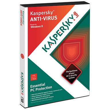 Kaspersky Anti-Virus 2013 1U PC Software