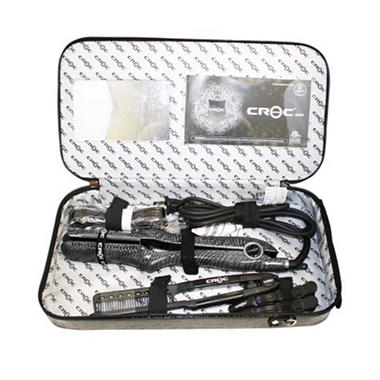 CROC Skin Professional Flat Iron Gift Set - Charcoal Black