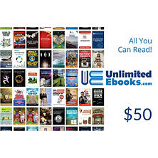 Unlimited Ebooks.com $50 Gift Card - $50 for $39.98