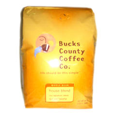 Bucks County House Blend Whole Bean Coffee -  2.5 lb
