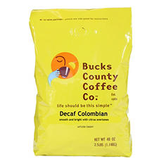 Bucks County Decaf Colombian Whole Bean Coffee - 2.5 lb.