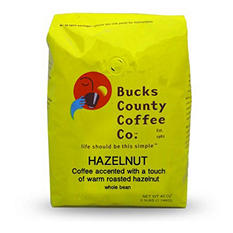 Bucks County Hazelnut Whole Bean Coffee - 2.5 lb