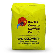 Bucks County Colombia Whole Bean Coffee - 2.5 lb